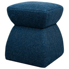 'Cusi' Pouf in Encre Mohair
