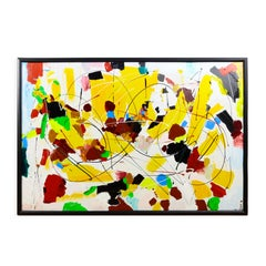 """Custard"" Acrylic on Canvas Abstract Painting by Andrew Plum Circa 2007"