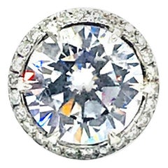 Custom, 12 Carat Center, Set in Diamond Mounting 14 Karat