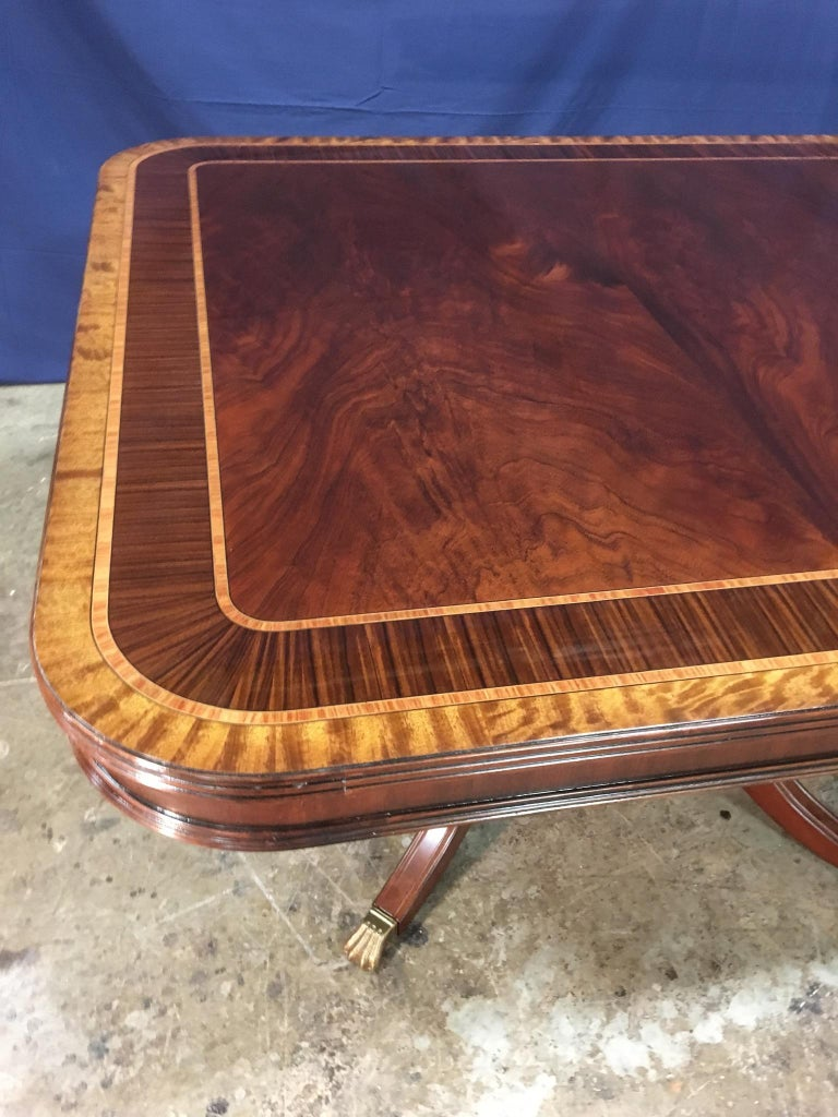 Custom Large 16 ft. Mahogany Banquet Dining Table by Leighton Hall For Sale 2