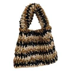 Custom 1930s - 1940s John-Fredericks Gold & Black Made to Order Bag