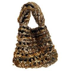 Custom 1930s-1940s John-Fredericks Gold & Silver Made to Order Bag