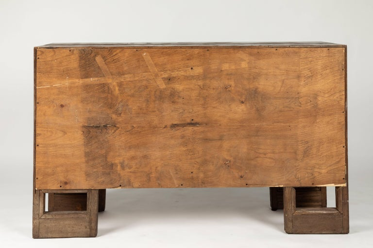 Custom 1940s Stained Oak Cabinet by James Mont For Sale 4