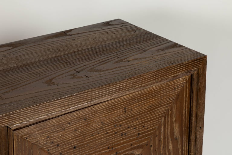 Mid-Century Modern Custom 1940s Stained Oak Cabinet by James Mont For Sale