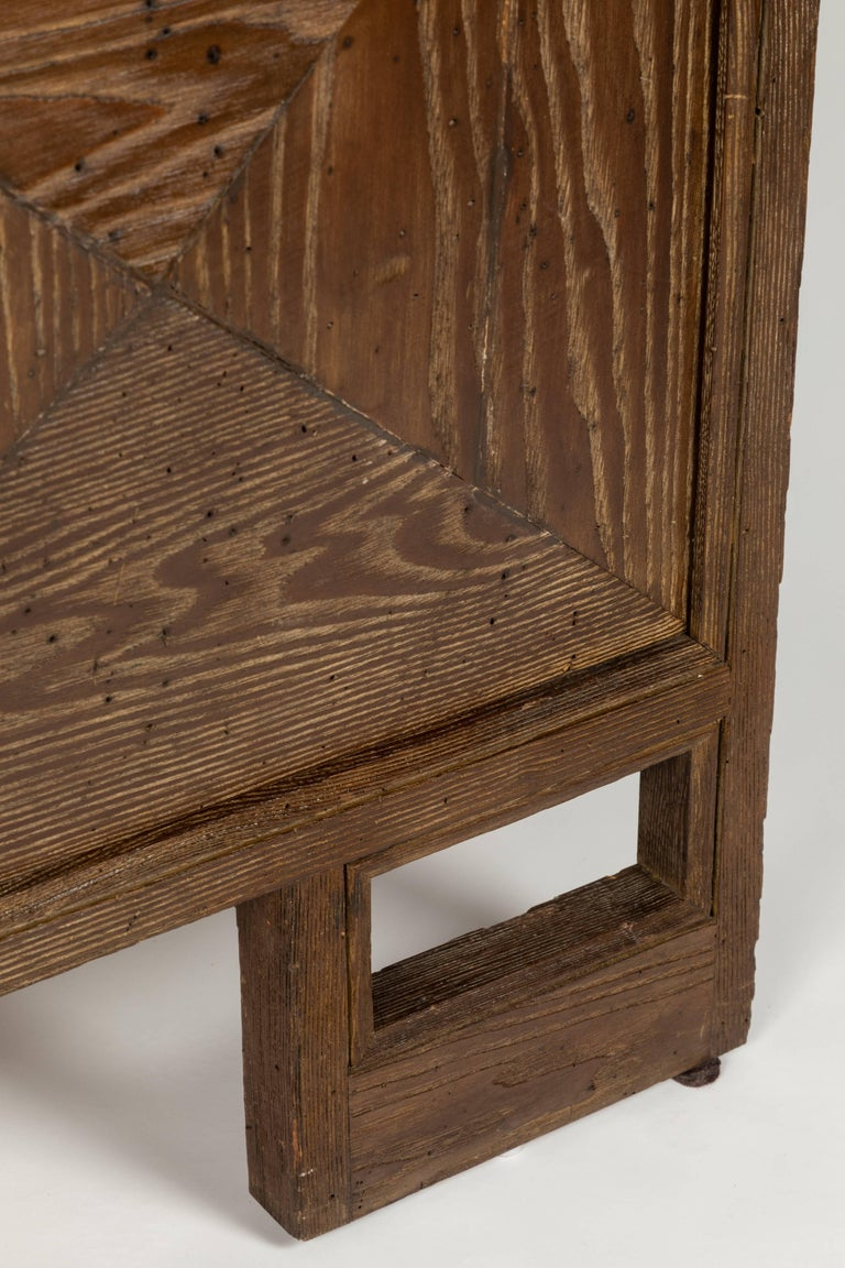 American Custom 1940s Stained Oak Cabinet by James Mont For Sale