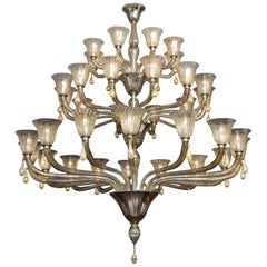 Custom 3-Tier Extra Large Modern Venetian Chandelier
