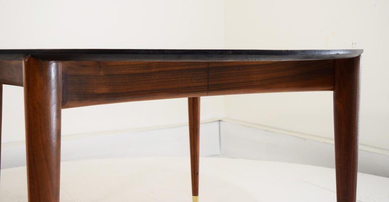 Brass Custom Dinette Table after Gio Ponti For Sale