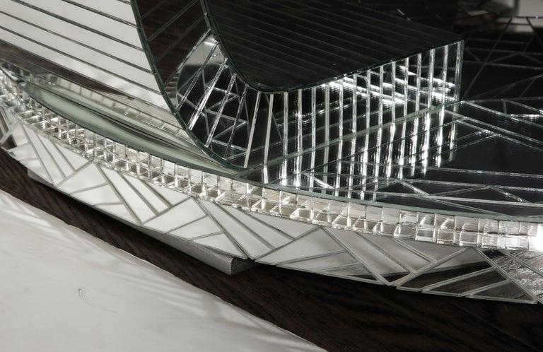Custom Art Deco Style Mirror Coffee Table For Sale 6