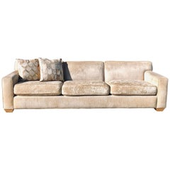 Custom A. Rudin Sofa in Beige Soft Chenille from Palm Springs Estate
