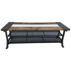 Custom Allsaints Spitalfields Industrial Modern Dining or Display Table
