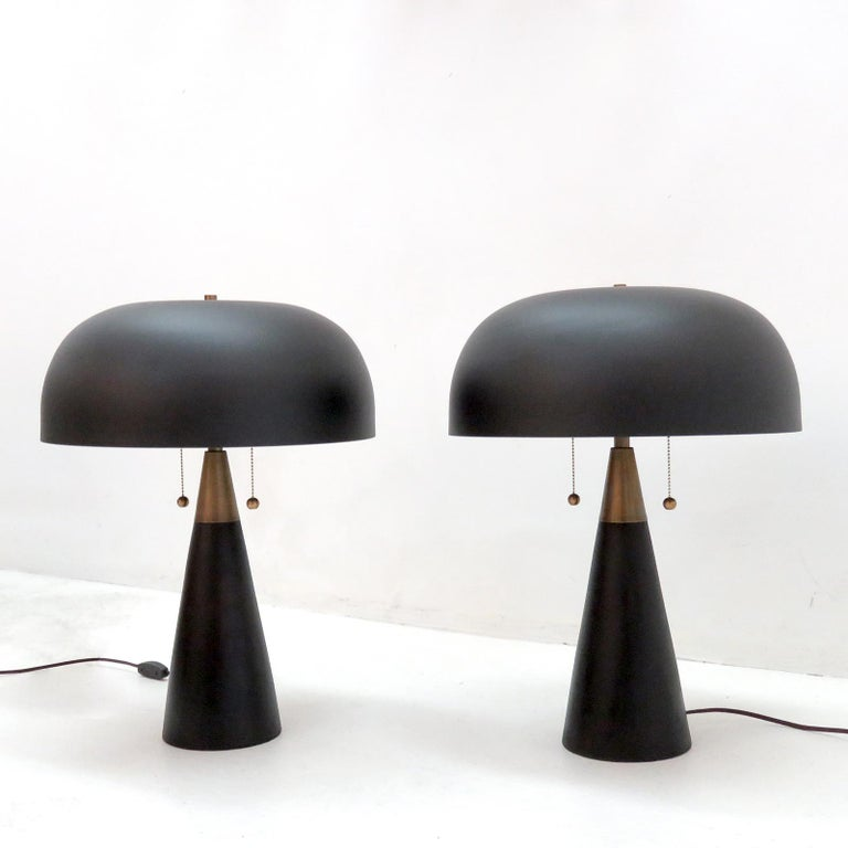 Powder-Coated Table Lamps 'Alvaro' for Gallery L7 For Sale