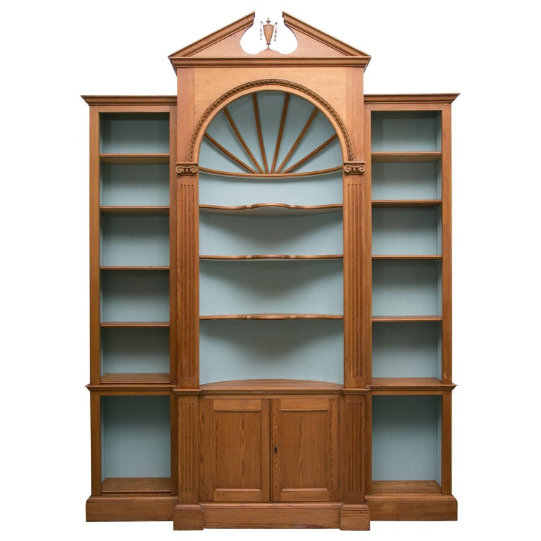 Custom American Pine Bookcase For Sale At 1stdibs