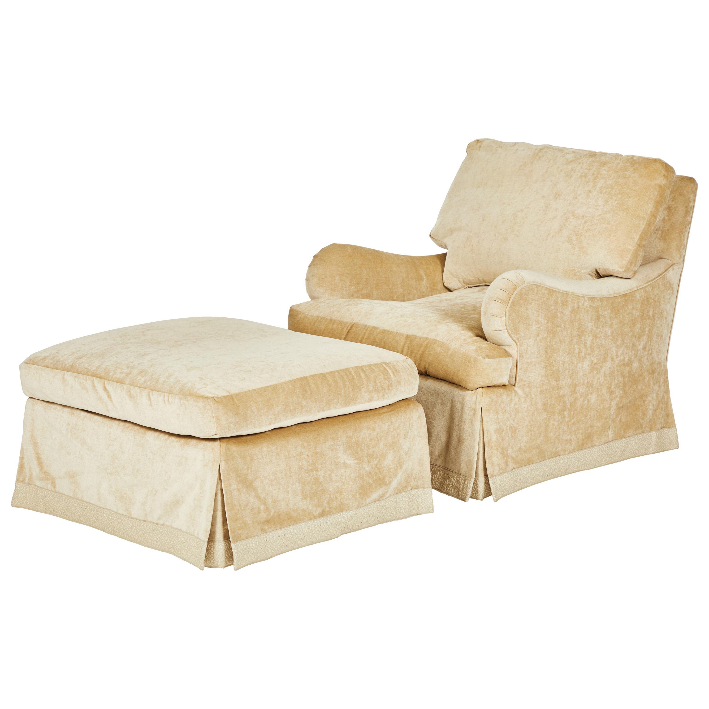 Custom Armchair and Ottoman