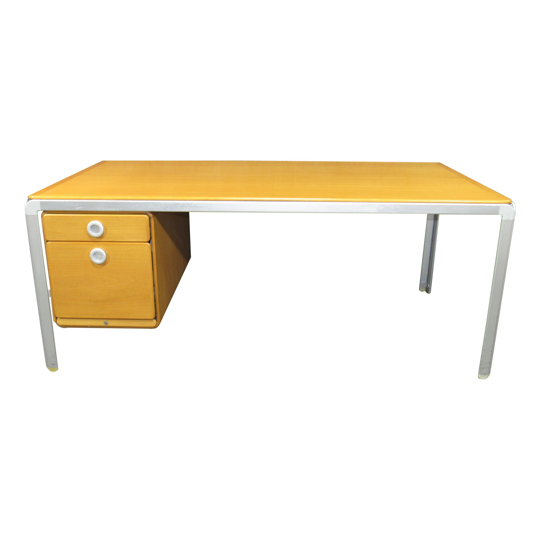 Custom Arne Jacobsen Writing Desk for Fritz Hansen for the Danish National Bank