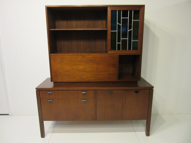 Custom Bar Cabinet / Credenza in the Style of Midcentury Jens Risom 5