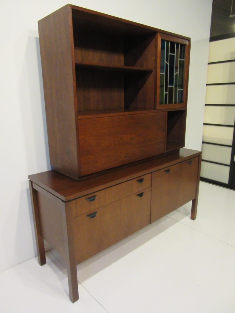 20th Century Custom Bar Cabinet / Credenza in the Style of Midcentury Jens Risom