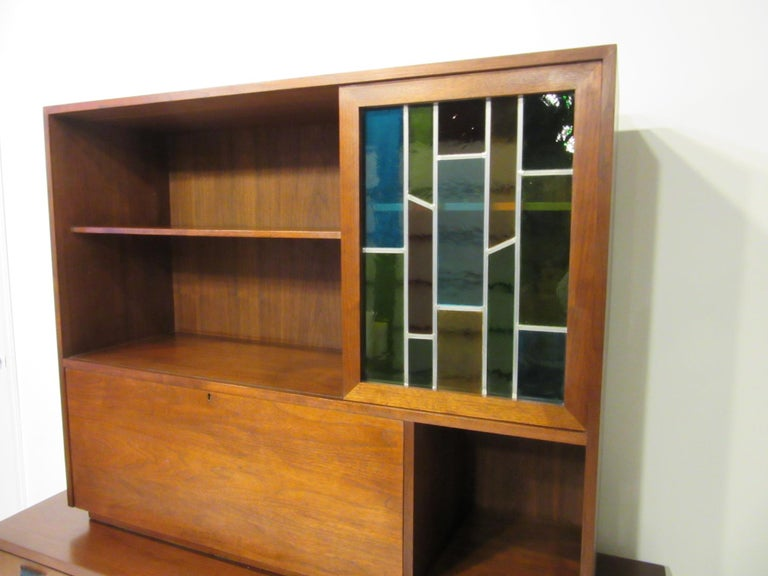 Custom Bar Cabinet / Credenza in the Style of Midcentury Jens Risom 1