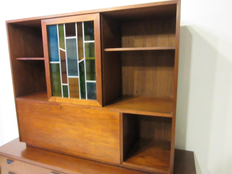 Custom Bar Cabinet / Credenza in the Style of Midcentury Jens Risom 2