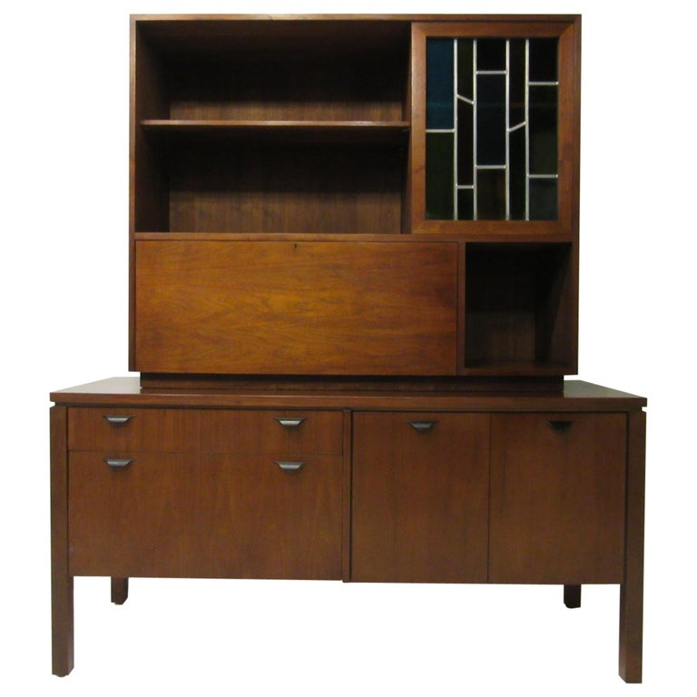 Custom Bar Cabinet / Credenza in the Style of Midcentury Jens Risom