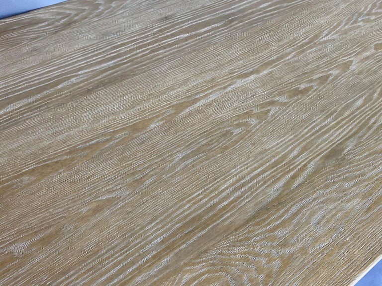 Custom Barley Twist Dining Table in Oak For Sale 1