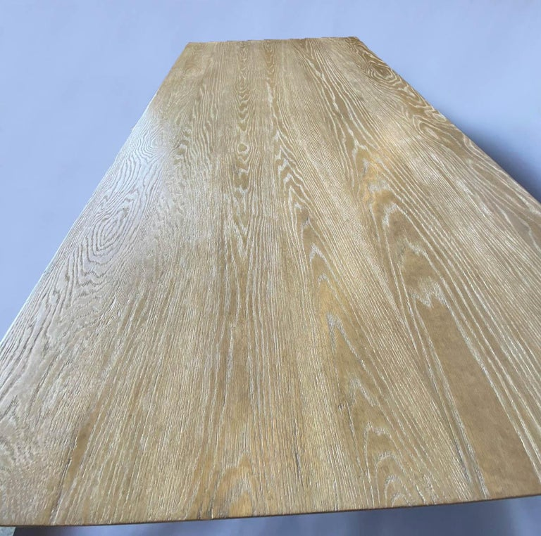 Custom Barley Twist Dining Table in Oak For Sale 2