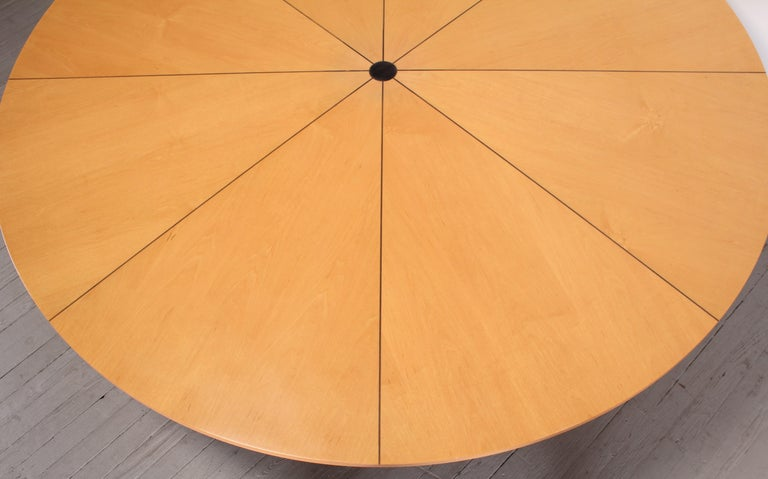 American Custom Biedermeier Dining Table by Continental Furniture Company, 1990s For Sale