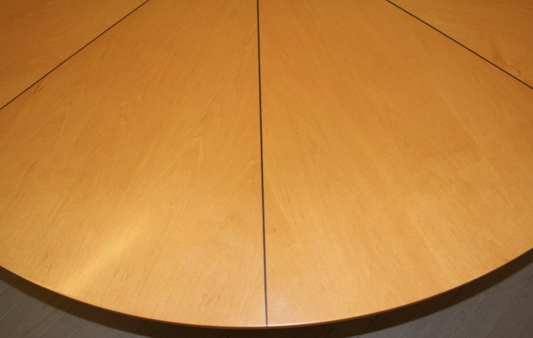 Custom Biedermeier Dining Table by Continental Furniture Company, 1990s In Good Condition For Sale In Hamburg, PA