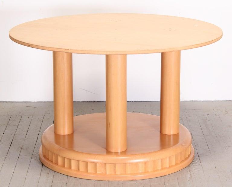 Ebony Custom Biedermeier Dining Table by Continental Furniture Company, 1990s For Sale