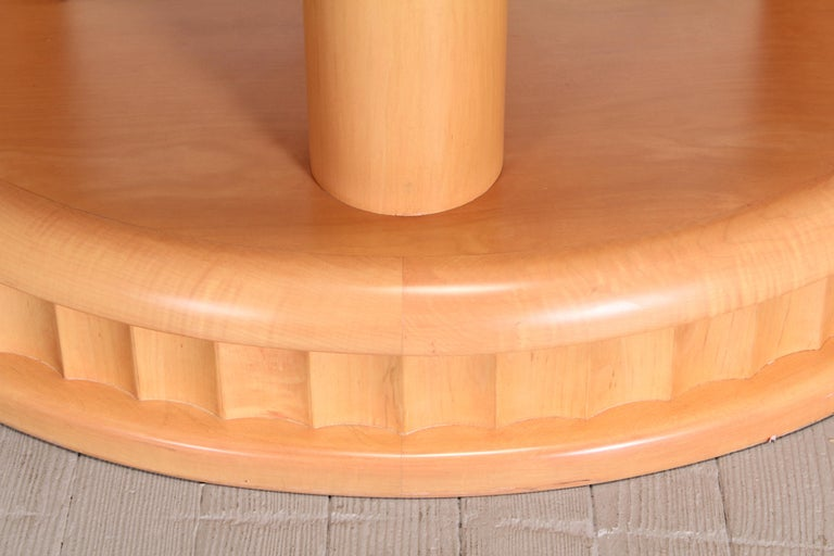 Custom Biedermeier Dining Table by Continental Furniture Company, 1990s For Sale 1