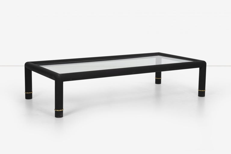 Custom Blackened Mastercraft Coffee Table In Good Condition For Sale In Chicago, IL