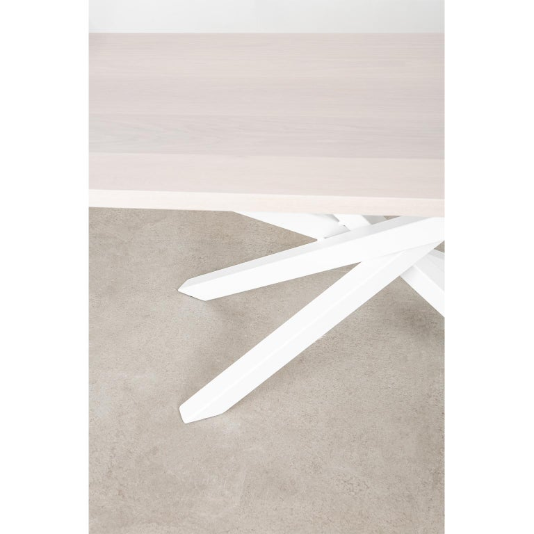 Custom Bower Meeting Table Made from Solid Wood with Metal Base For Sale 5