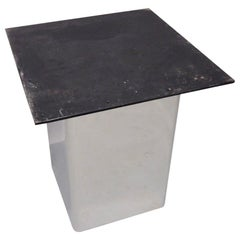 Custom Built Stainless Steel Base Pedestal or Table in Style of Pace
