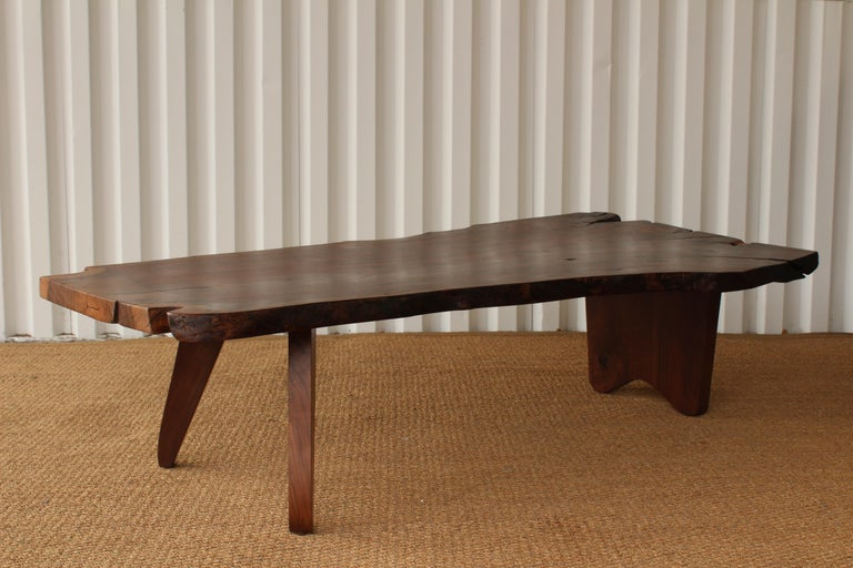 Custom California Walnut Live Edge Coffee Table For Sale At 1stdibs