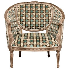 Custom Carved French Style Oversized Salon Chair