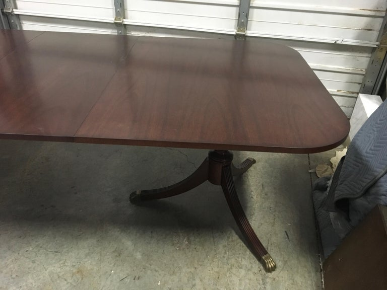 Contemporary Custom Cathedral Mahogany Georgian Style Dining Table by Leighton Hall For Sale