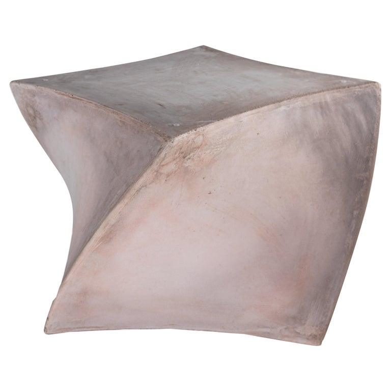 Custom Cement Twist Dining Table Base For Sale