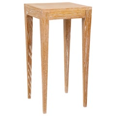 Custom Cerused Oak Table on Tapered Legs