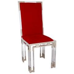 Custom Charles Hollis Jones Lucite Dining Chair