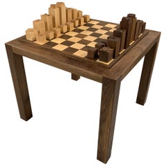 Custom Chess Set and Game Table