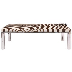 Custom Chrome and Zebra Hide Bench by Pace