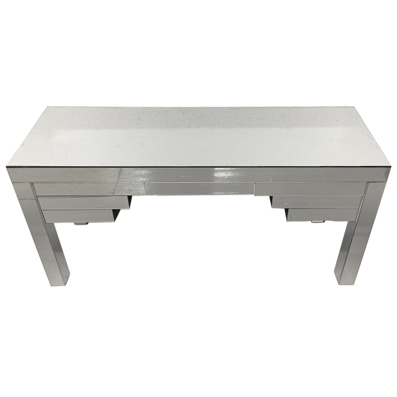Custom Clad Mirrored Desk, Custom Design