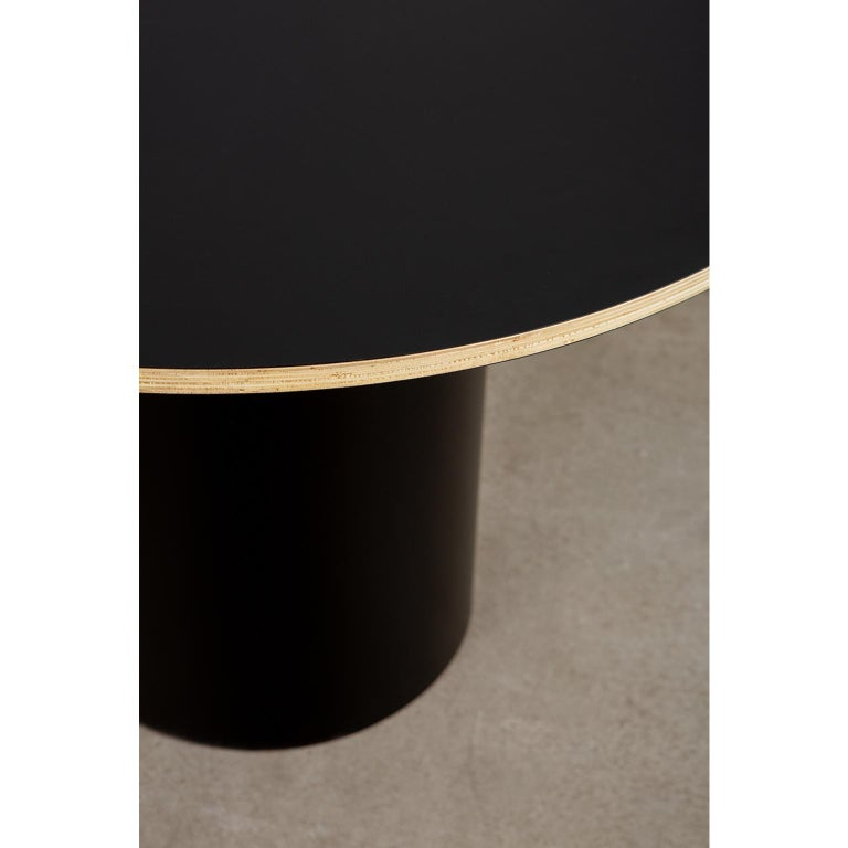 Custom Column Meeting Table Made from Solid Wood with Metal Base For Sale 2