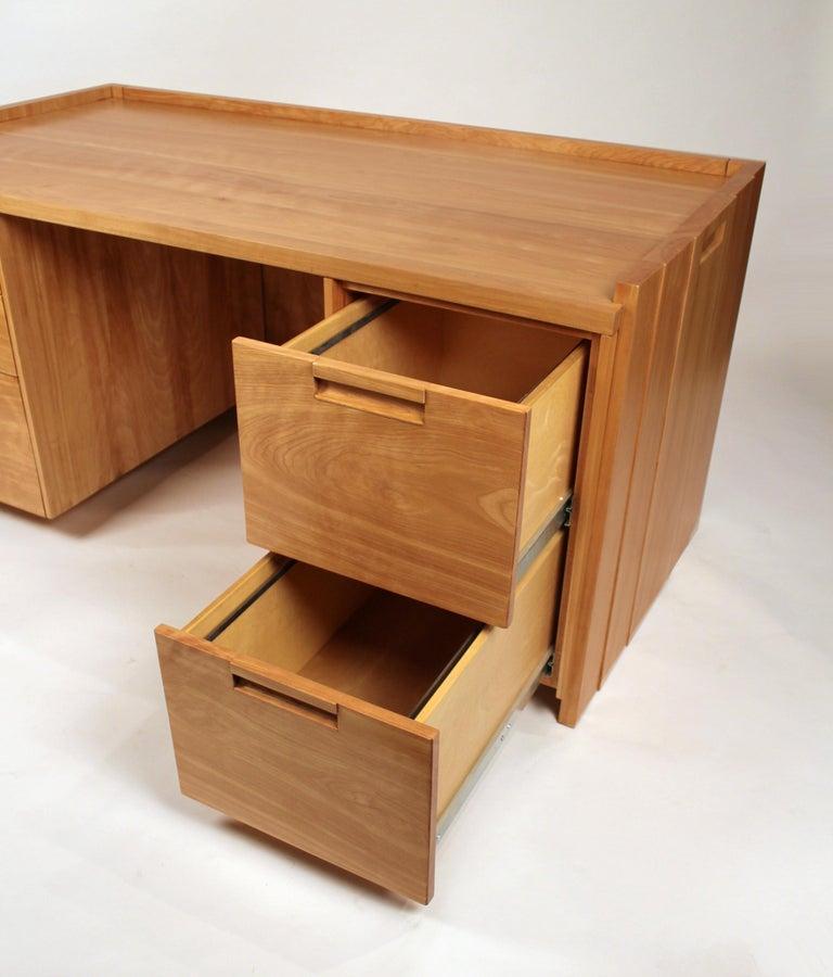 Custom Commissioned Solid Wood Desk by California Studio Craftsman John Kapel For Sale 3