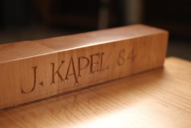 American Custom Commissioned Solid Wood Desk by California Studio Craftsman John Kapel For Sale