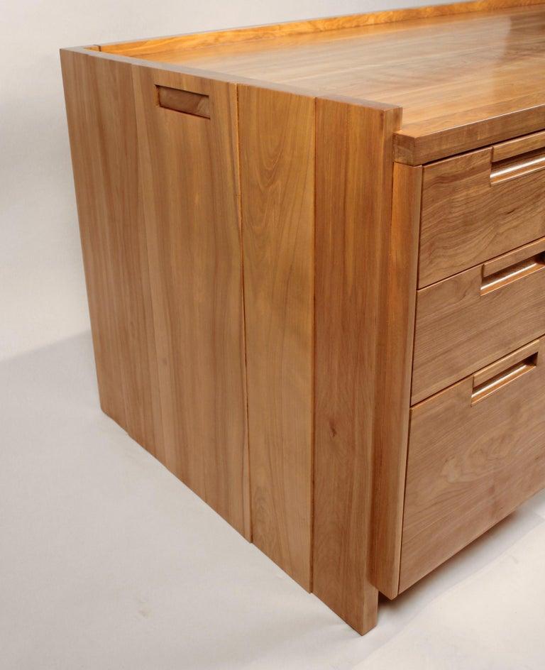 Cherry Custom Commissioned Solid Wood Desk by California Studio Craftsman John Kapel For Sale