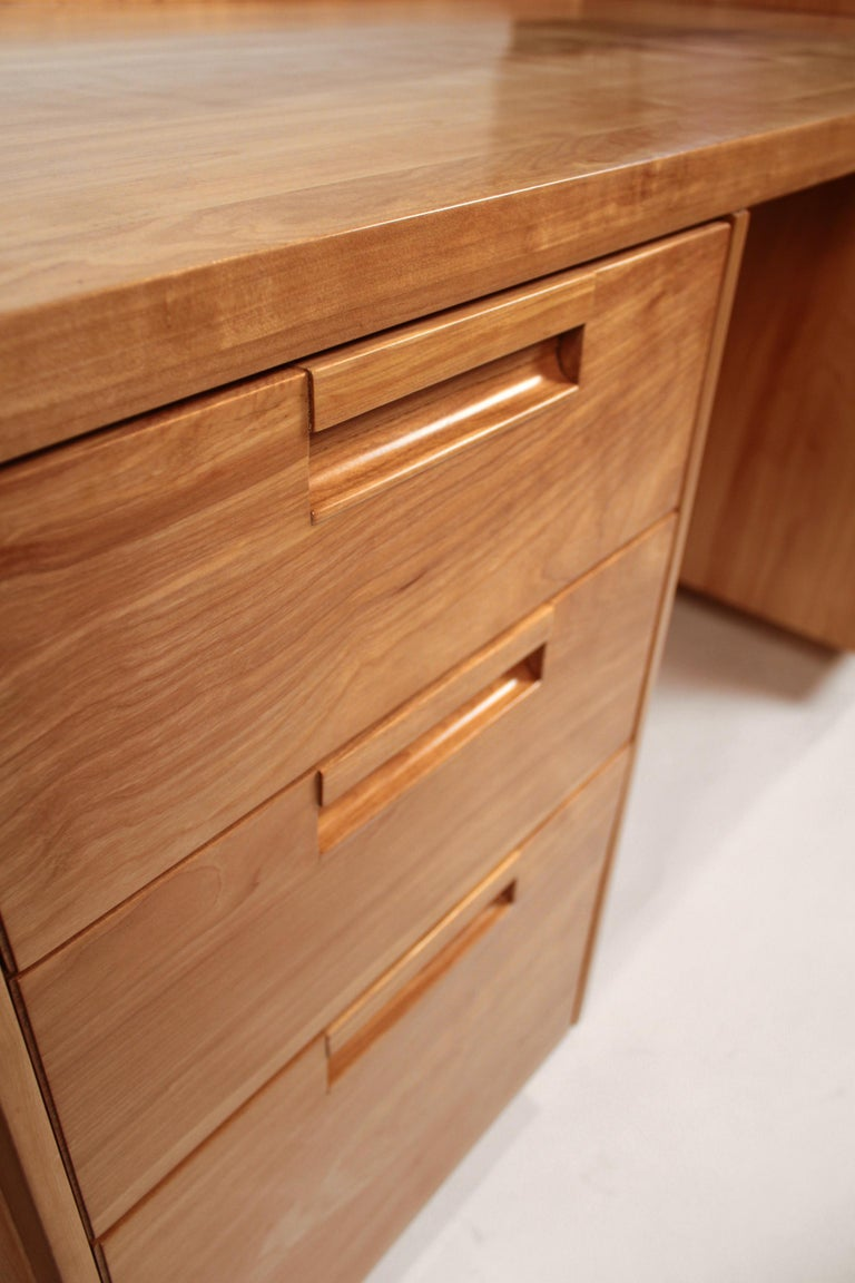 Custom Commissioned Solid Wood Desk by California Studio Craftsman John Kapel For Sale 1