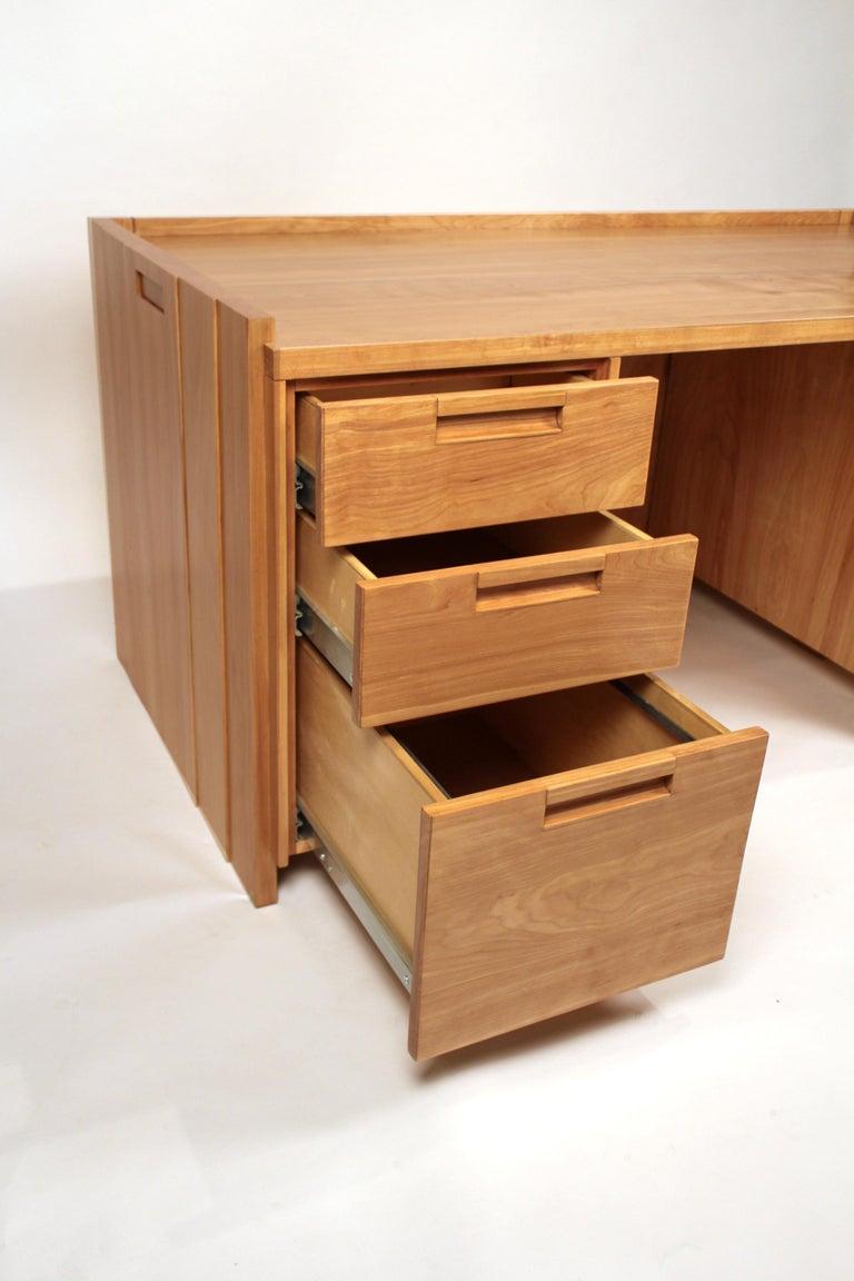 Custom Commissioned Solid Wood Desk by California Studio Craftsman John Kapel For Sale 2