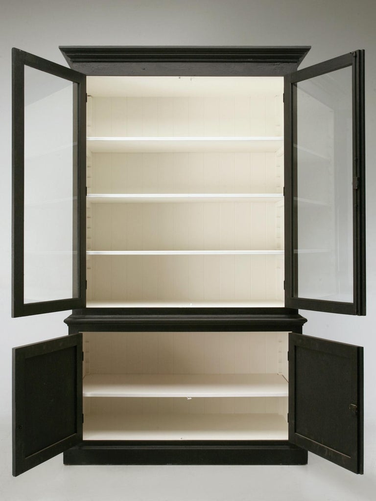 Custom Country French Painted Bookcase or Cabinet in Any Dimension or Finish For Sale 3