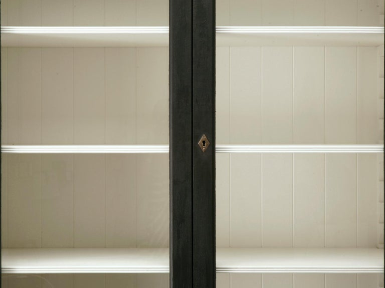 Hand-Painted Custom Country French Painted Bookcase or Cabinet in Any Dimension or Finish For Sale