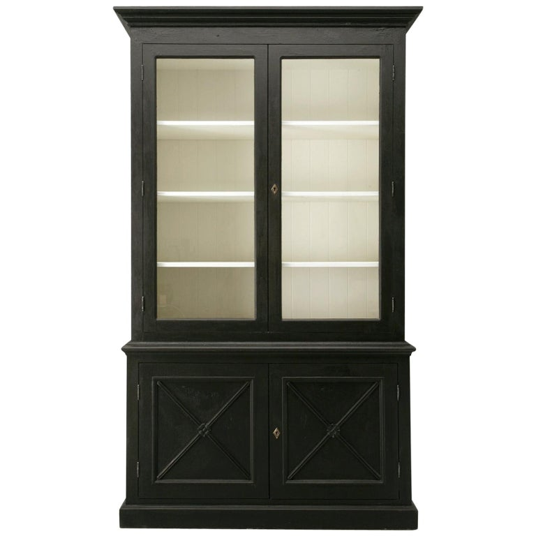 Custom Country French Painted Bookcase or Cabinet in Any Dimension or Finish For Sale